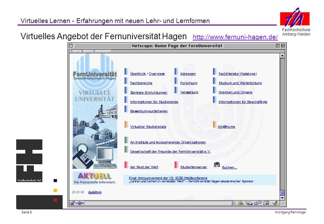 Virtuelles Angebot der Fernuniversität Hagen