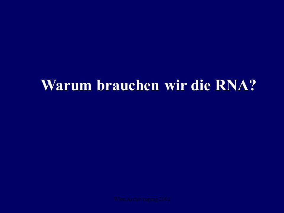 Warum brauchen wir die RNA