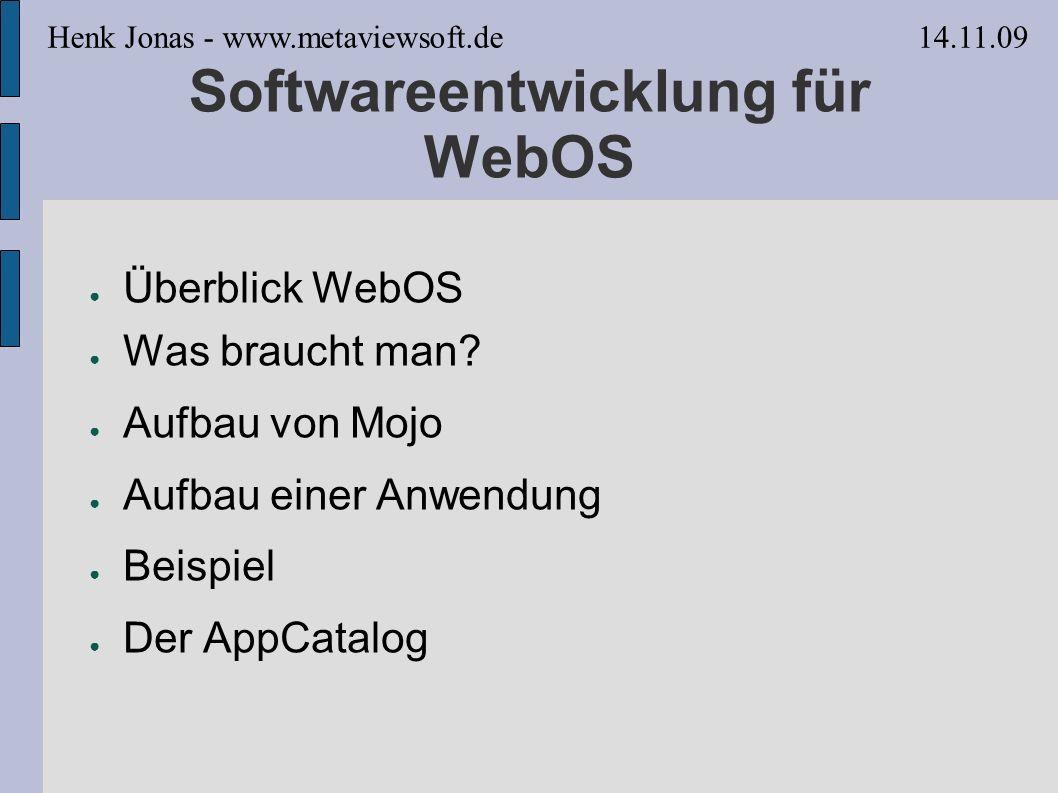 Softwareentwicklung für WebOS