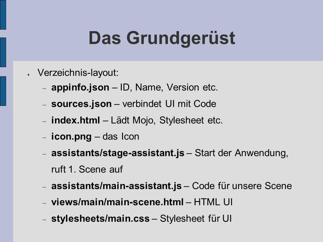 Das Grundgerüst Verzeichnis-layout: