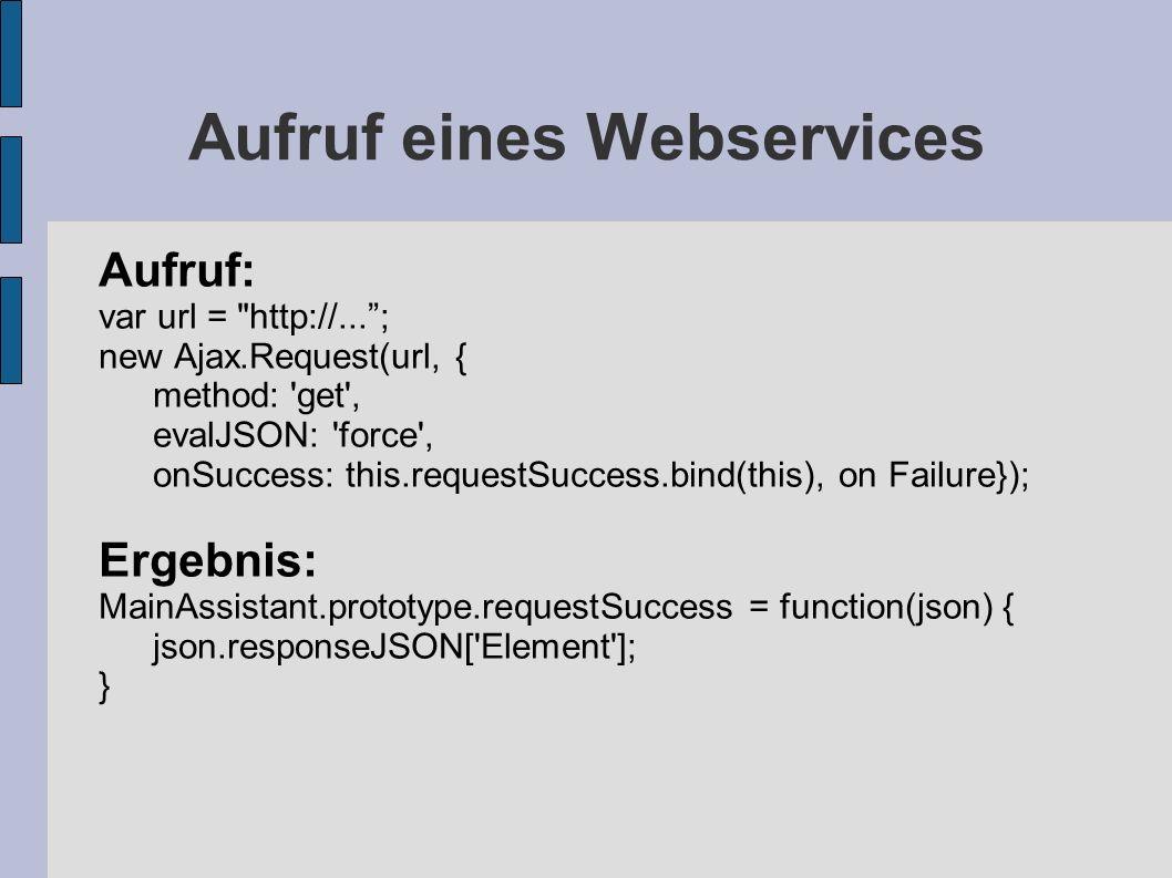 Aufruf eines Webservices