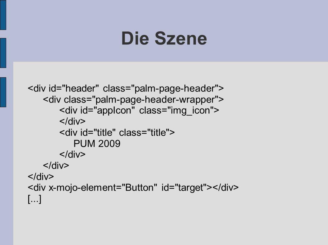 Die Szene <div id= header class= palm-page-header >