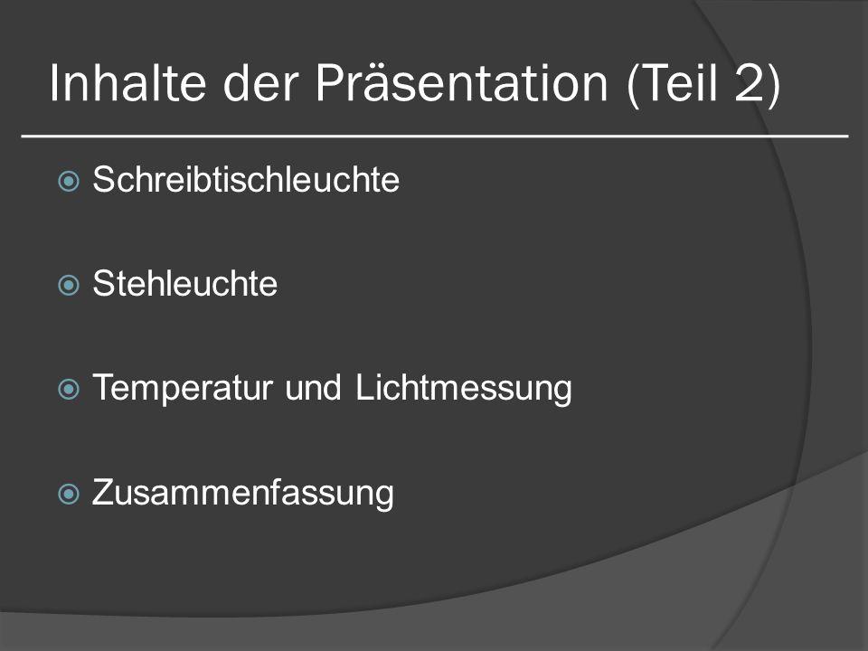 Inhalte der Präsentation (Teil 2)