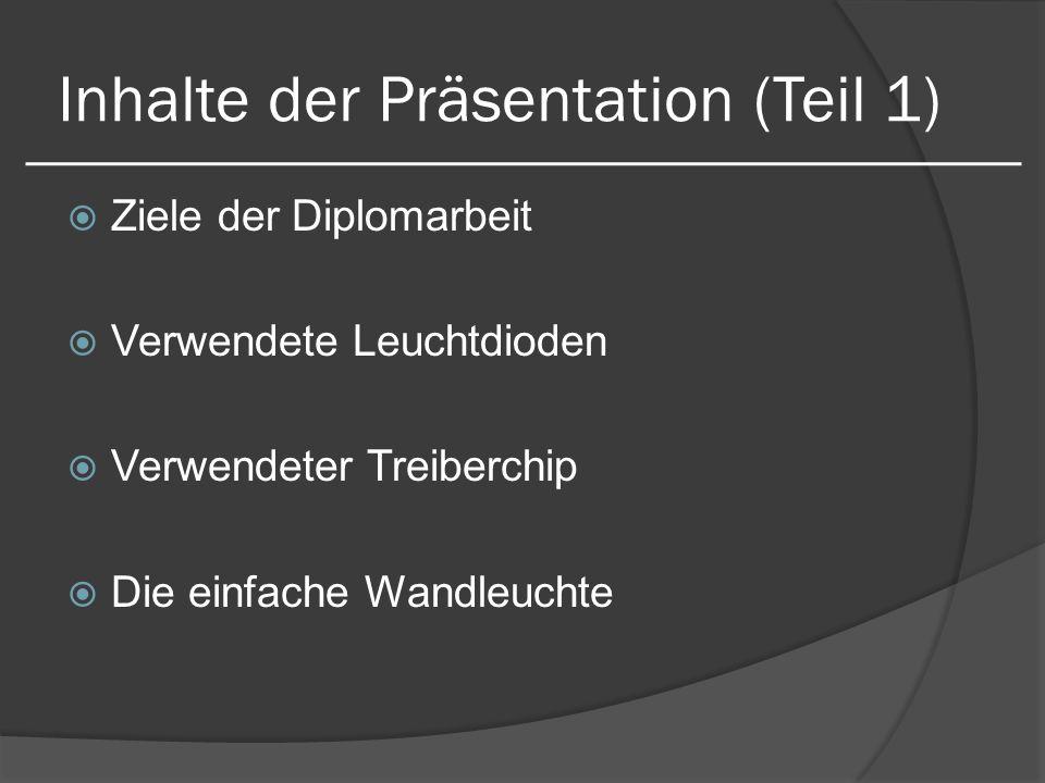 Inhalte der Präsentation (Teil 1)