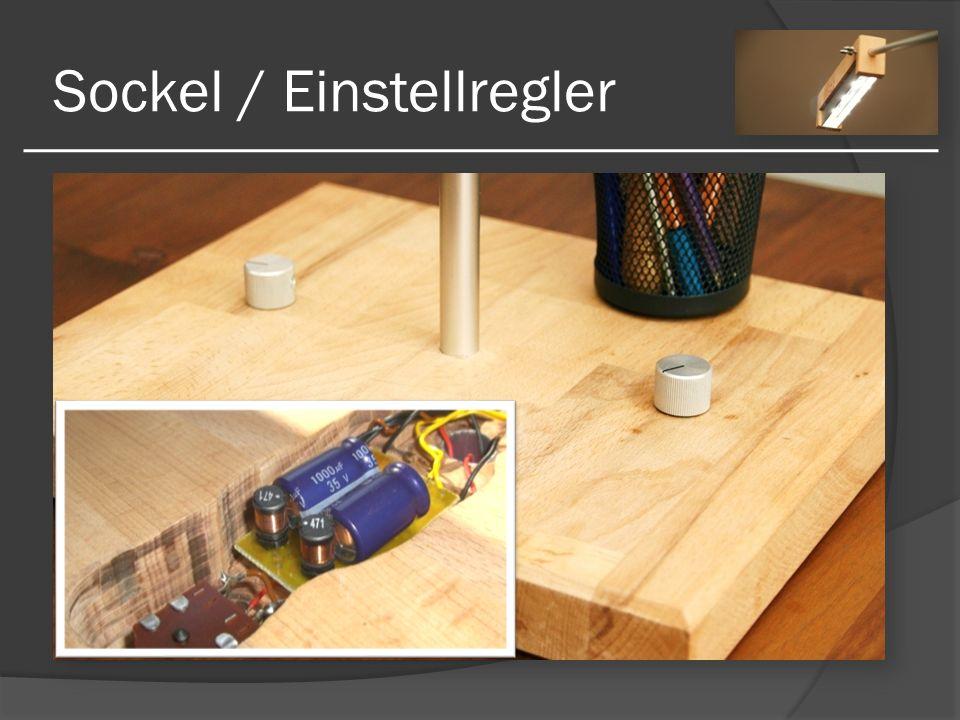 Sockel / Einstellregler