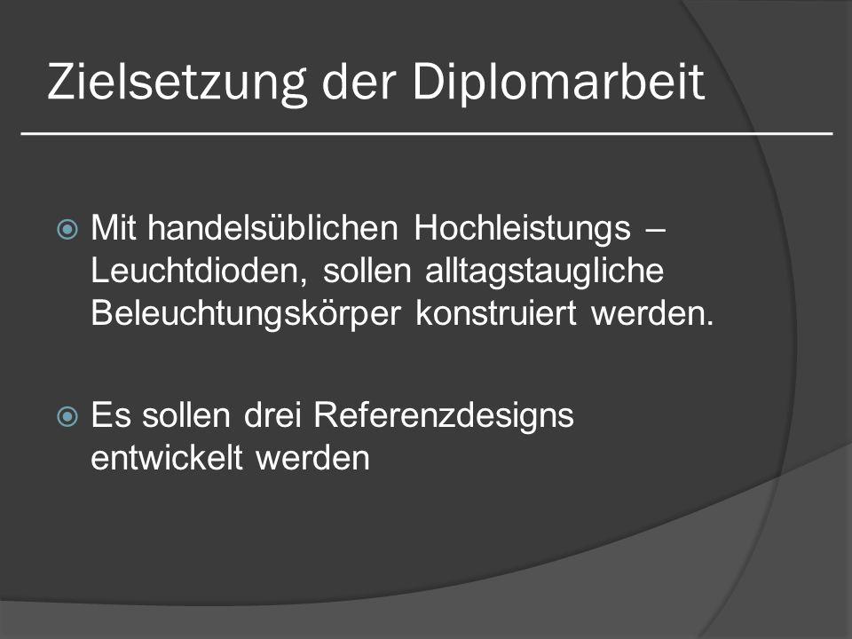 Zielsetzung der Diplomarbeit