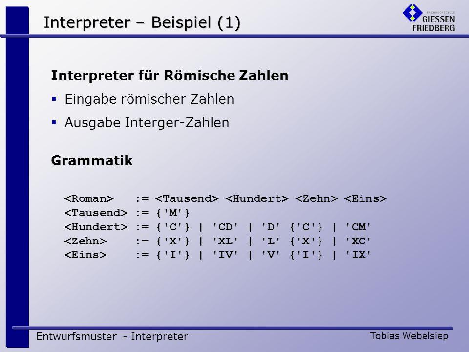 Interpreter – Beispiel (1)