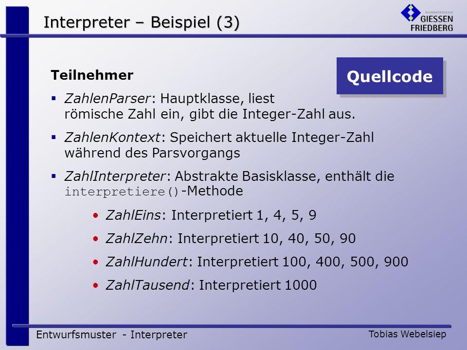 Interpreter – Beispiel (3)