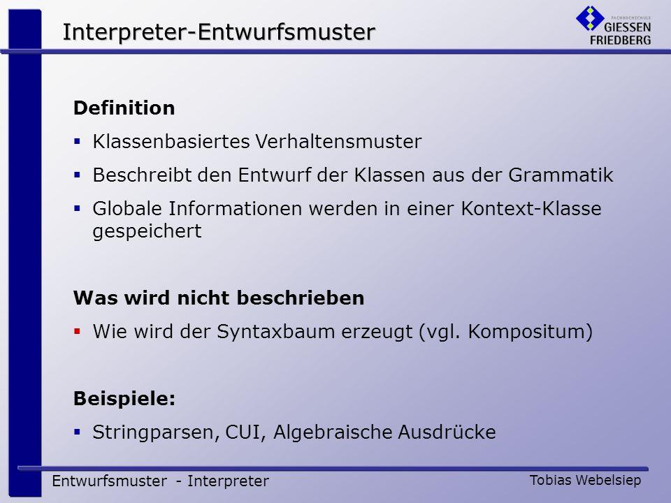 Interpreter-Entwurfsmuster