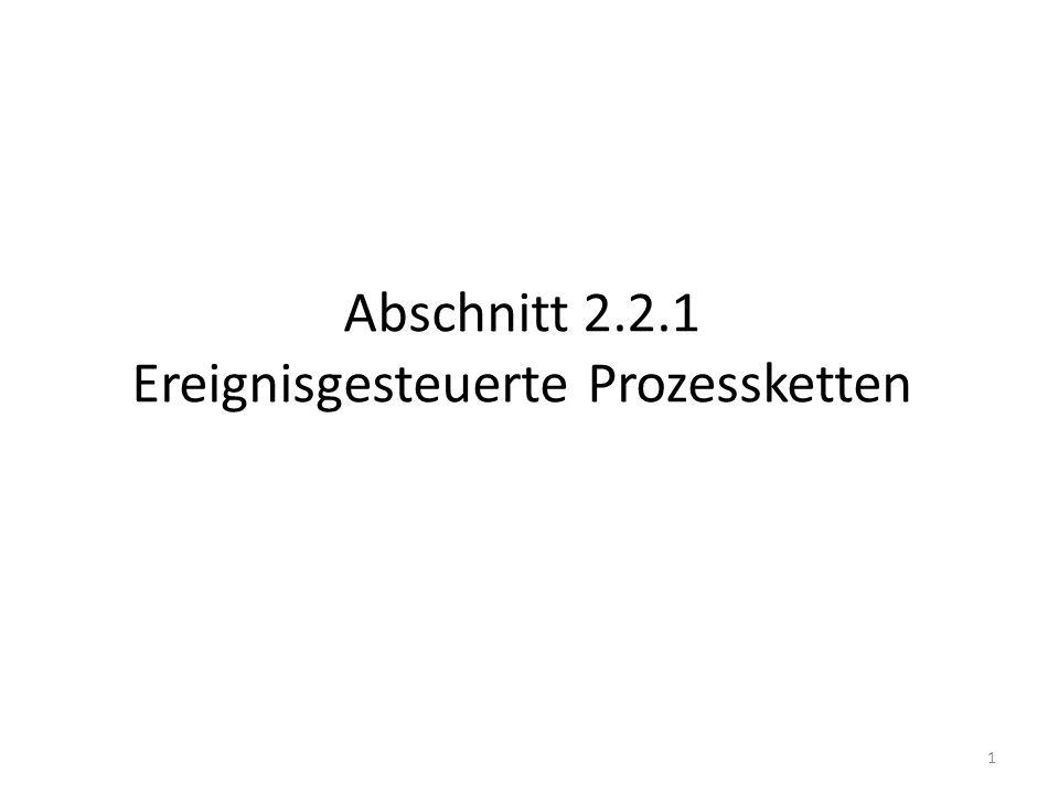 Abschnitt 2.2.1 Ereignisgesteuerte Prozessketten