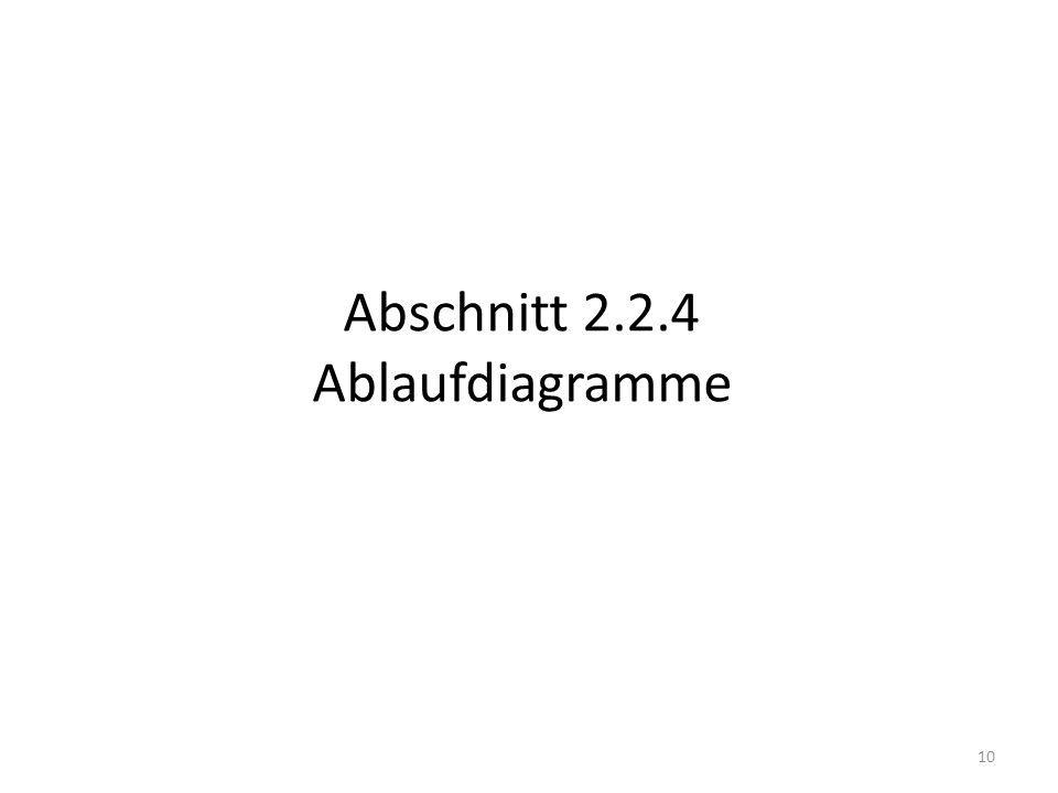 Abschnitt 2.2.4 Ablaufdiagramme
