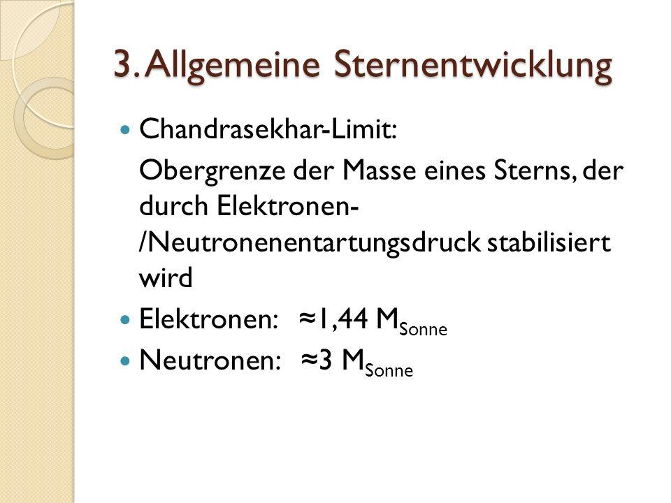 3. Allgemeine Sternentwicklung