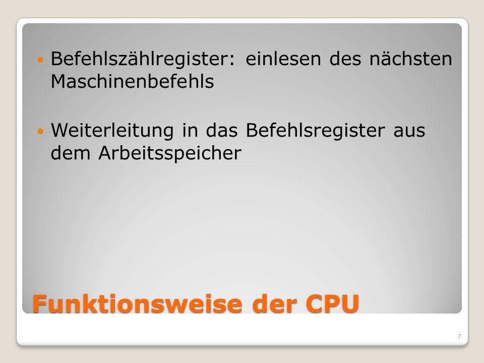 Funktionsweise der CPU