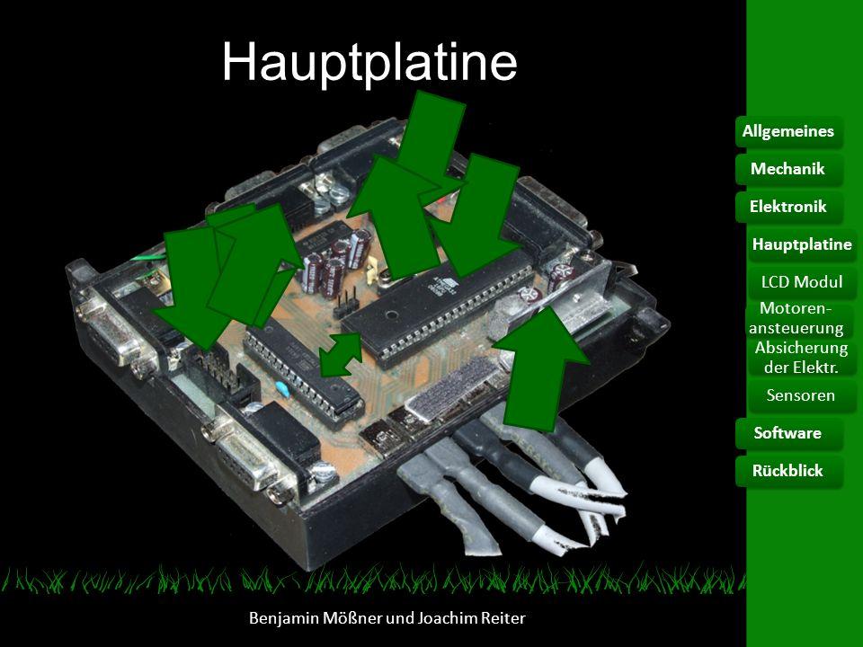 Hauptplatine Allgemeines Mechanik Elektronik Hauptplatine LCD Modul