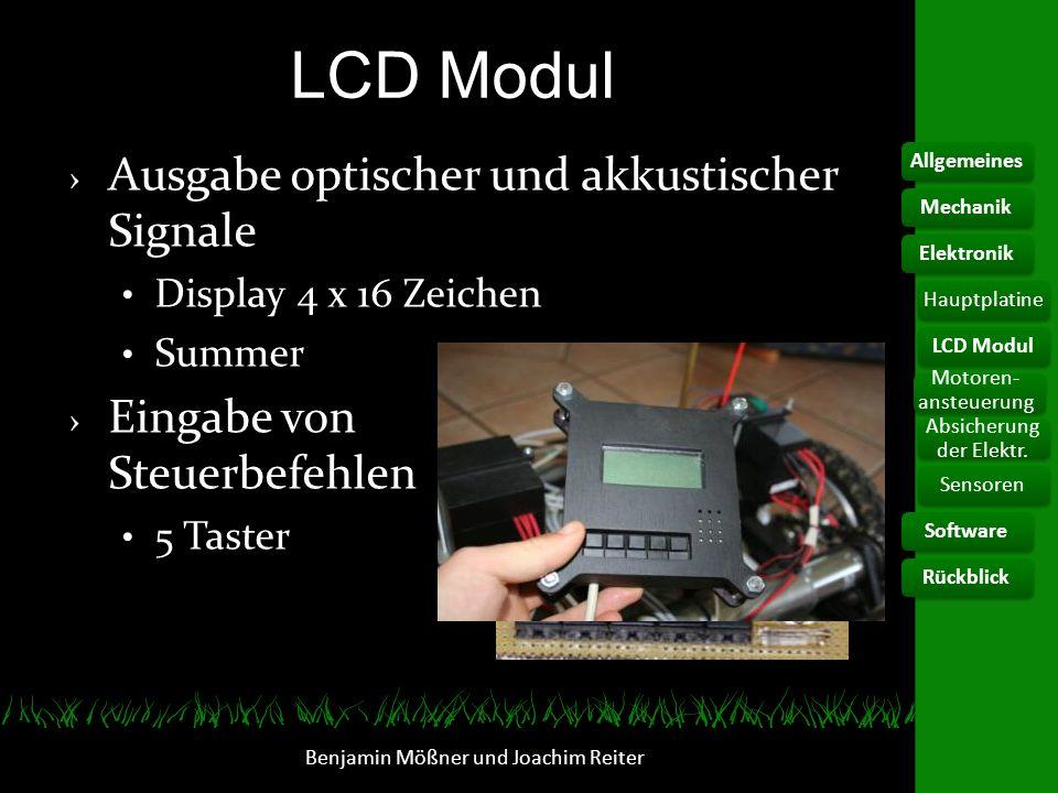 LCD Modul Ausgabe optischer und akkustischer Signale