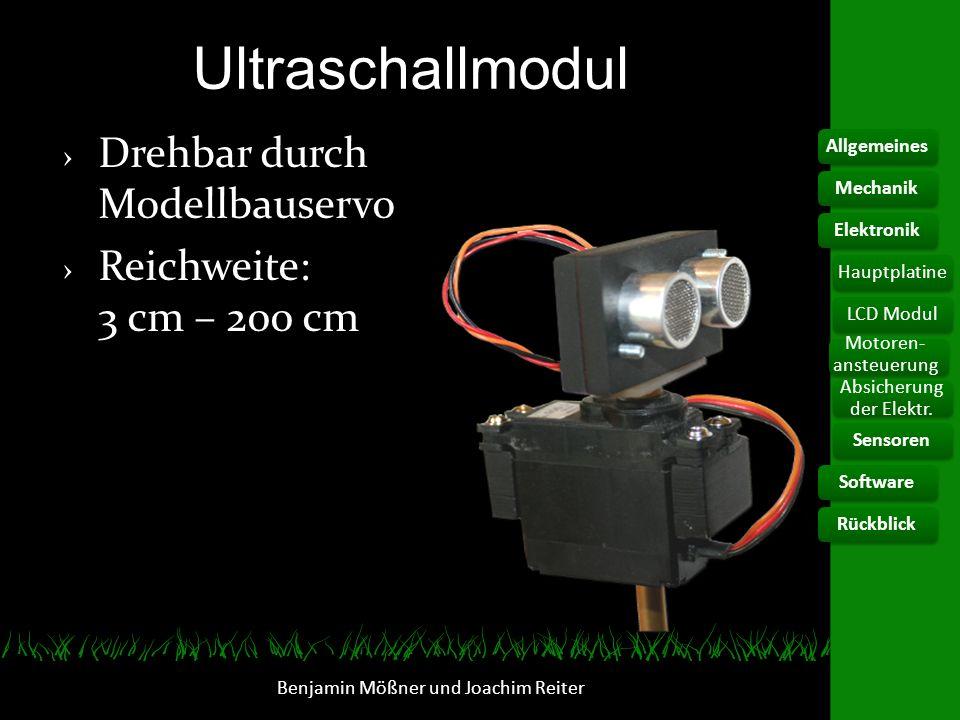 Ultraschallmodul Drehbar durch Modellbauservo