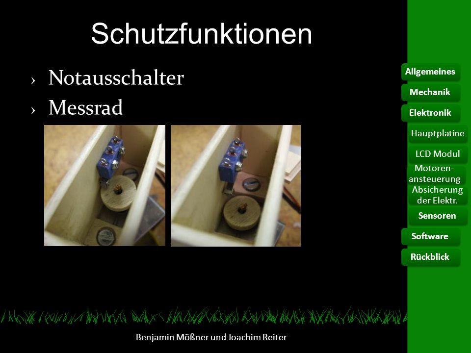 Schutzfunktionen Notausschalter Messrad Allgemeines Mechanik