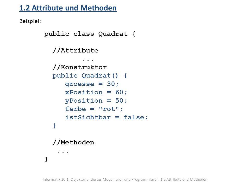 1.2 Attribute und Methoden