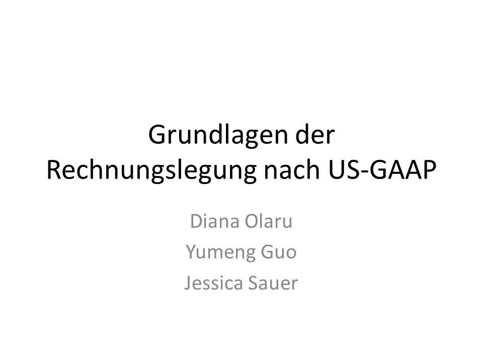 Grundlagen der Rechnungslegung nach US-GAAP