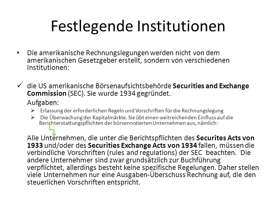 Festlegende Institutionen