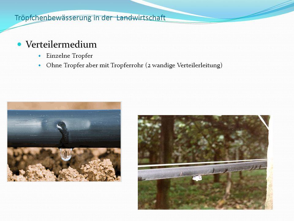 Tröpfchenbewässerung in der Landwirtschaft