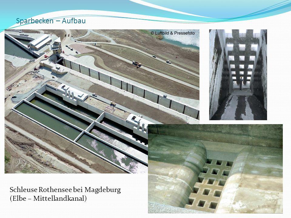 Sparbecken – Aufbau Schleuse Rothensee bei Magdeburg
