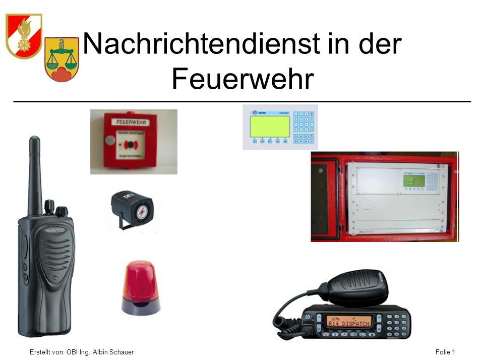 Nachrichtendienst in der Feuerwehr