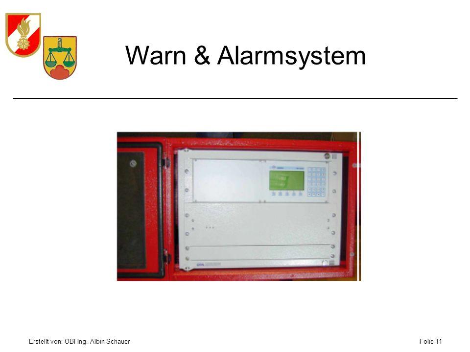 Warn & Alarmsystem Erstellt von: OBI Ing. Albin Schauer