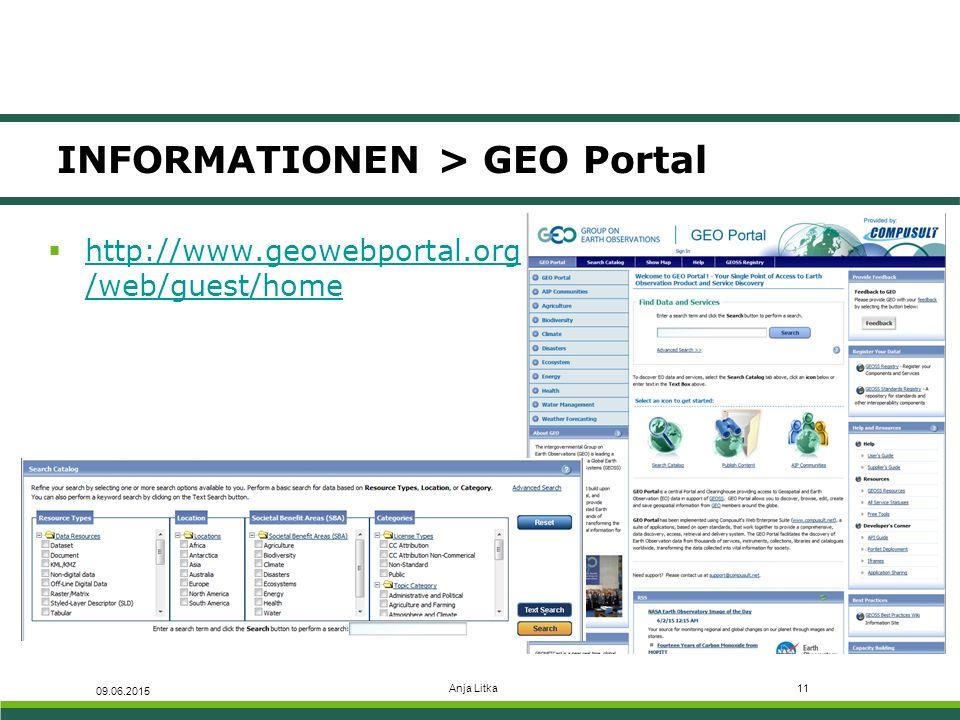 INFORMATIONEN > GEO Portal
