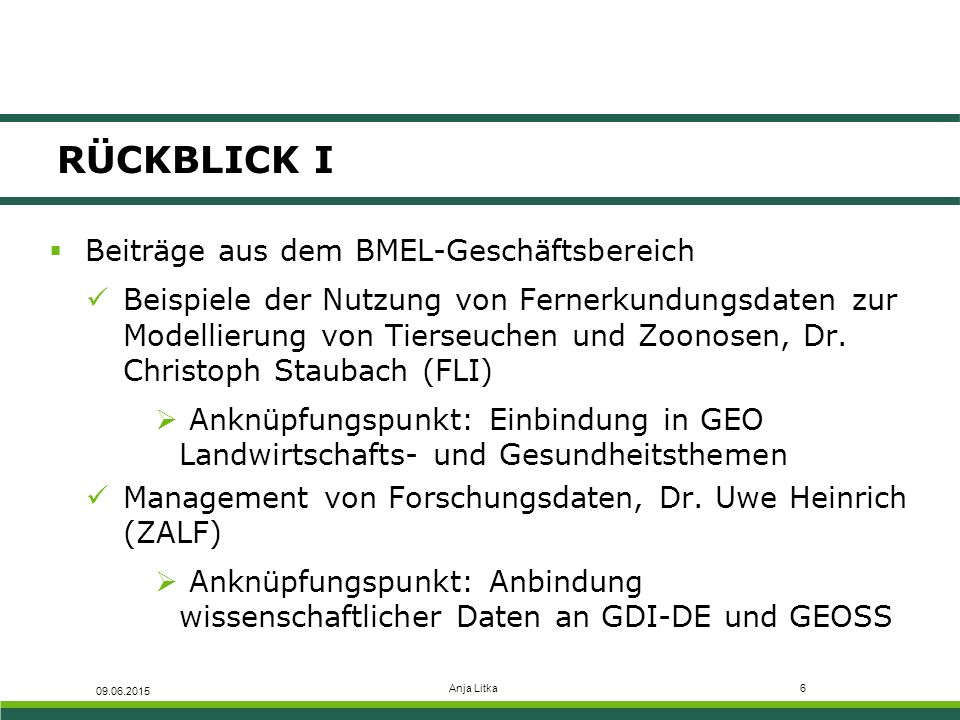 RÜCKBLICK I Beiträge aus dem BMEL-Geschäftsbereich