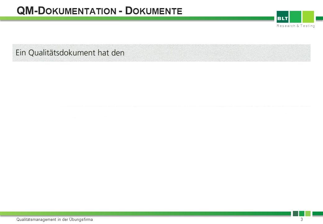QM-Dokumentation - Dokumente
