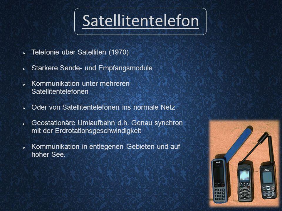 Satellitentelefon Telefonie über Satelliten (1970)