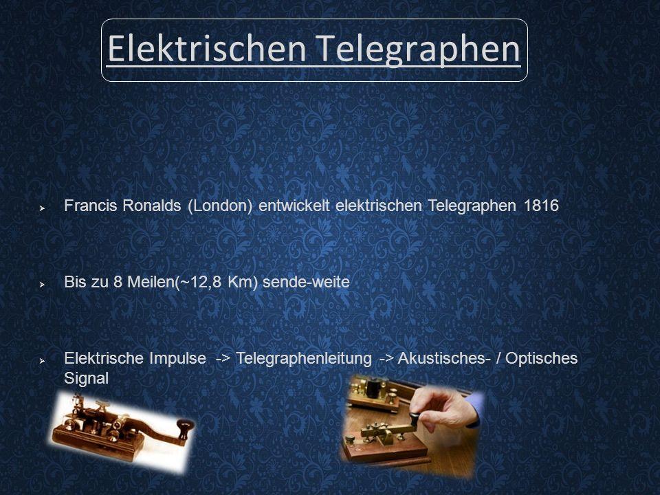 Elektrischen Telegraphen