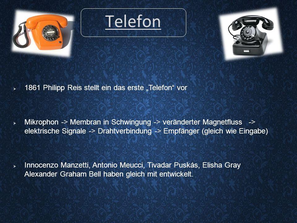 """Telefon 1861 Philipp Reis stellt ein das erste """"Telefon vor"""