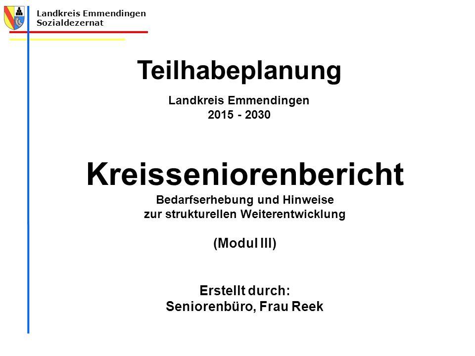 Landkreis Emmendingen Kreisseniorenbericht Seniorenbüro, Frau Reek