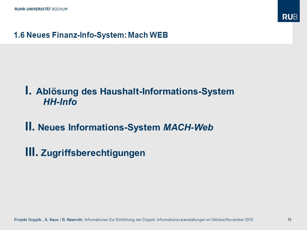 Ablösung des Haushalt-Informations-System HH-Info
