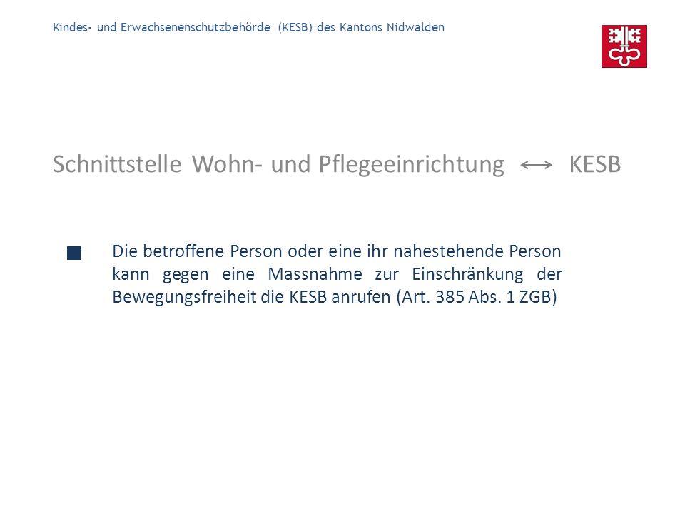 Kindes- und Erwachsenenschutzbehörde (KESB) des Kantons Nidwalden