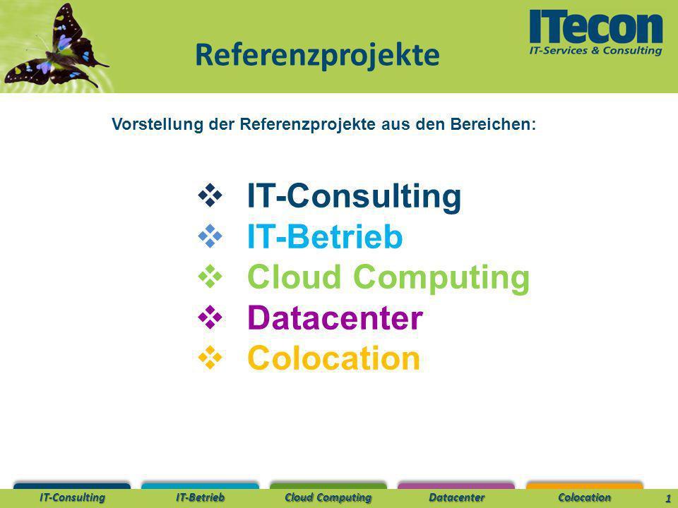 Vorstellung der Referenzprojekte aus den Bereichen: