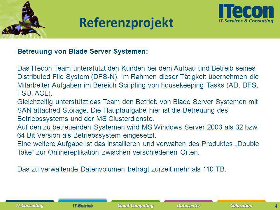 Referenzprojekt Betreuung von Blade Server Systemen: