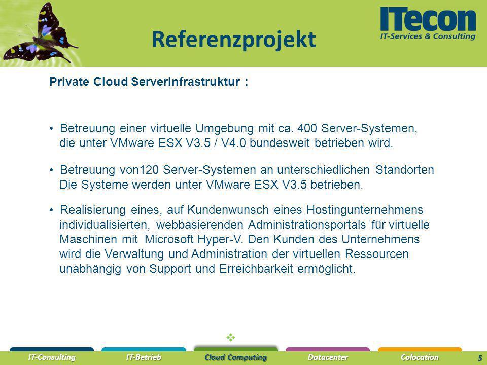 Referenzprojekt Private Cloud Serverinfrastruktur :