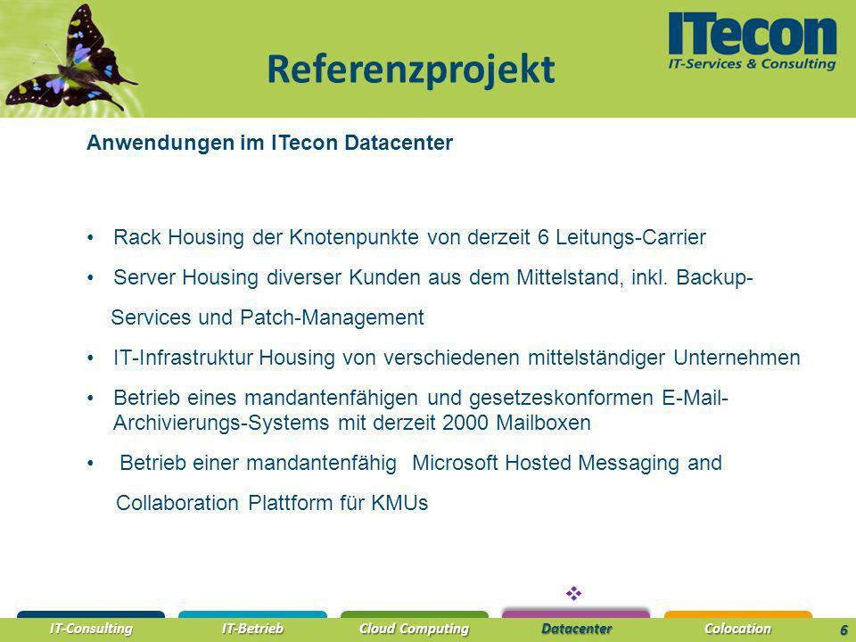 Referenzprojekt Anwendungen im ITecon Datacenter
