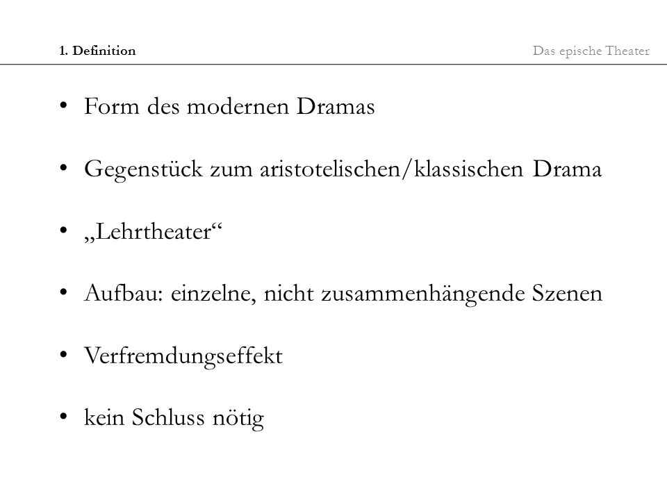 Form des modernen Dramas