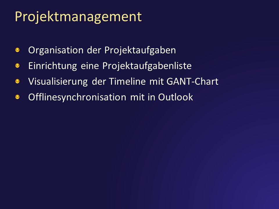 Projektmanagement Organisation der Projektaufgaben