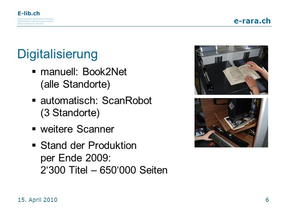 Digitalisierung manuell: Book2Net (alle Standorte)