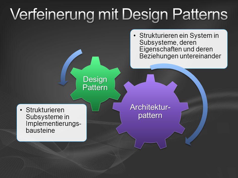Verfeinerung mit Design Patterns