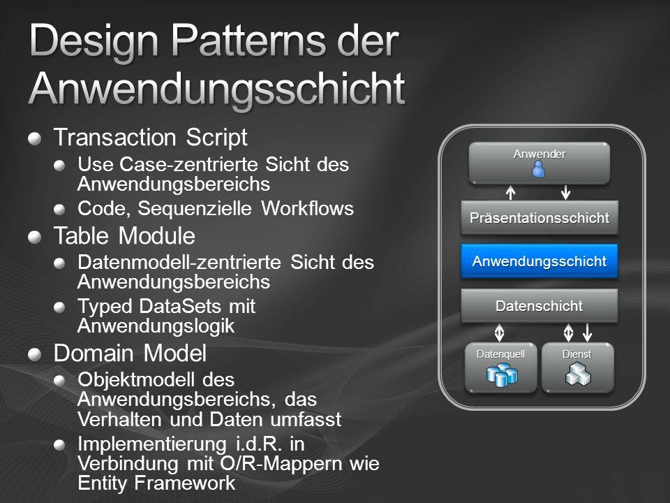 Design Patterns der Anwendungsschicht
