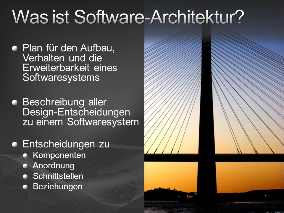 Was ist Software-Architektur