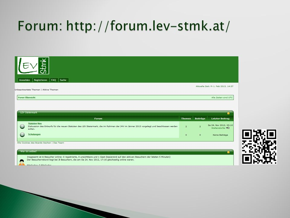 Forum: http://forum.lev-stmk.at/