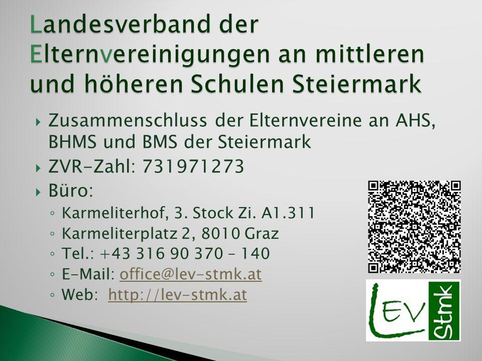 Landesverband der Elternvereinigungen an mittleren und höheren Schulen Steiermark