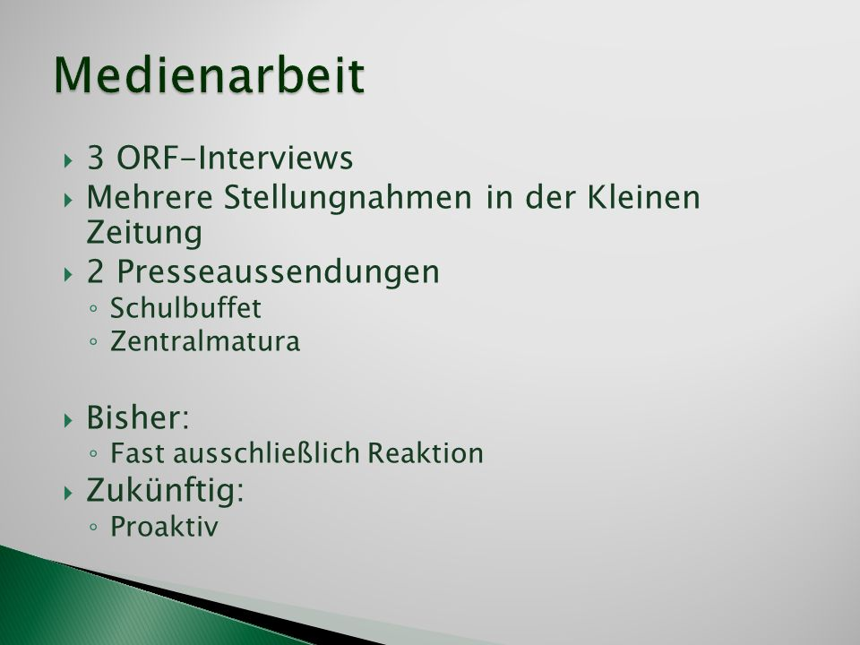 Medienarbeit 3 ORF-Interviews